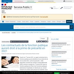 Changement CDD FONCTION PUBLIQUE