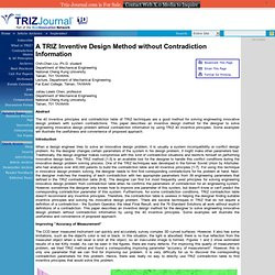A TRIZ Inventive Design Method without Contradiction Information