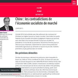 Chine : les contradictions de l'économie socialiste de marché