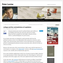college and the contradictions of capitalism « Peter Levine