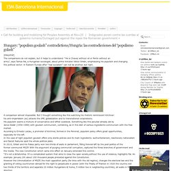 """Hungary: """"populism goulash"""" contradictions/Hungría: las contradicciones del """"populismo gulash"""""""