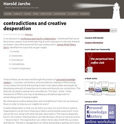 contradictions and creative desperation