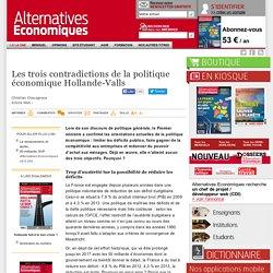 Les trois contradictions de la politique économique Hollande-Valls