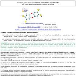 Contradictions au sujet de la dioxine