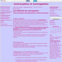 Les méthodes de contragestion - Contraception et Contragestion