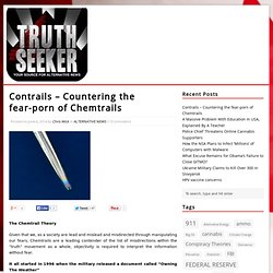 Contrails – Countering the fear-porn of ChemtrailsALTERNATIVE NEWS