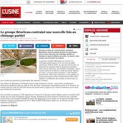 Le groupe Bénéteau contraint une nouvelle fois au chômage partiel - Construction navale (civile ou militaire)