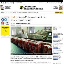 Coca-Cola contraint de fermer une usine