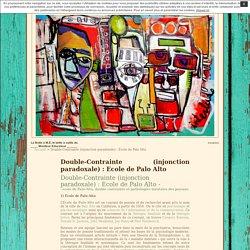 La Boite à M.E, la boîte à outils du ____ Moniteur Educateur ______ » Double-Contrainte (injonction paradoxale) : Ecole de Palo Alto