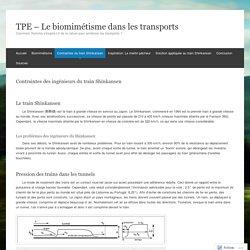 Contraintes des ingénieurs du train Shinkansen