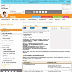 L'analyse des contraintes - AFE, Agence France Entrepreneur