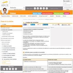 L'analyse des contraintes - APCE, agence pour la création d'entreprises