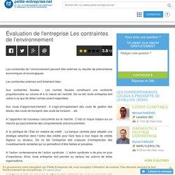 Évaluation de l'entreprise Les contraintes de l'environnement, Expert - Comptable - PRO en gestion
