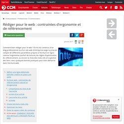 Rédiger pour le web : contraintes d'ergonomie et de référencement