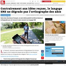 Contrairement aux idées reçues, le langage SMS ne dégrade pas l'orthographe des ados