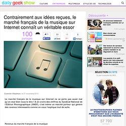 Contrairement aux idées reçues, le marché français de la musique sur Internet connaît un véritable essor