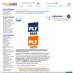 Loi de Finances pour 2020 : les mesures contraires et les mesures conformes à la Constitution