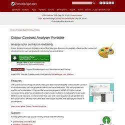 Colour Contrast Analyser Portable