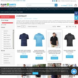 Contrast polo shirts, tripped contrast polo pique