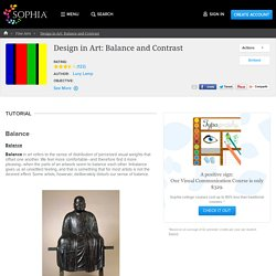 Design in Art: Balance and Contrast Tutorial