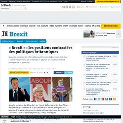 «Brexit»: les positions contrastées des politiques britanniques