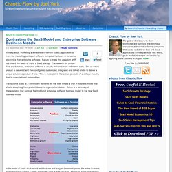 Contrasting Software-as-a-Service and Enterprise Software