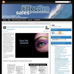 How contrasts make your sales presentations more impactful?