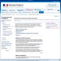 Contrat de cession des droits d'auteurs