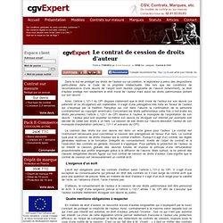 Le contrat de cession de droits d'auteur