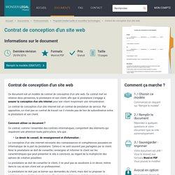 Contrat de Conception d'un Site Web - Modèle à Remplir