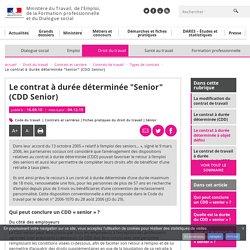 """Le contrat à durée déterminée """"Senior"""" (CDD Senior) - Types de contrats"""