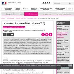 Le contrat à durée déterminée (CDD) - Ministère du Travail