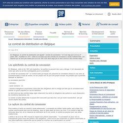 Le contrat de distribution en Belgique