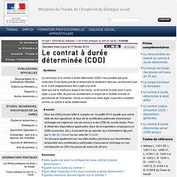 12. CDD - Le contrat à durée déterminée