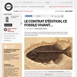 Le contrat d'édition, ce fossile vivant… » Article » OWNI, Digital Journalism