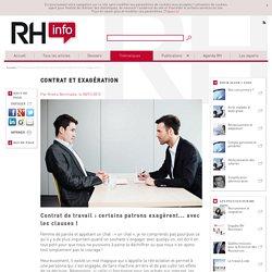 Contrat et exagération