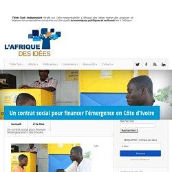 Un contrat social pour financer l'émergence en Côte d'Ivoire