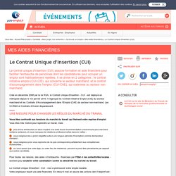 Le Contrat Unique d'Insertion - CUI - Fusion des sites ANPE et ASSEDIC