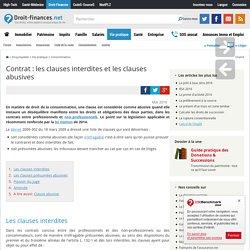Contrat : les clauses interdites et les clauses abusives