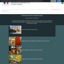 Contrat de bail dans le logement social - Ministère du Logement et de l'Habitat durable