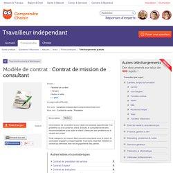 Modèle de contrat : Contrat de mission de consultant