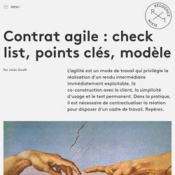 Contrat agile : check list, points clés, modèle - Résidence Mixte