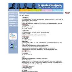 liste des opca, contrat de professionnalisation, liste des opacif, Paris