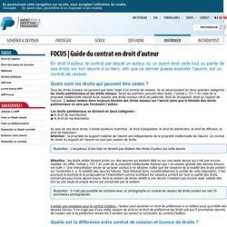 Guide du contrat en droit d'auteur - APP - Agence pour la Protection des Programmes