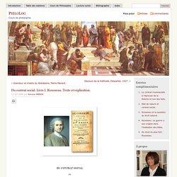 » Du contrat social. Livre I. Rousseau. Texte et explication.