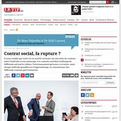Contrat social, la rupture ?