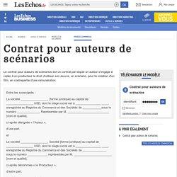 Modèle Contrat pour auteurs de scénarios – Les Echos Business