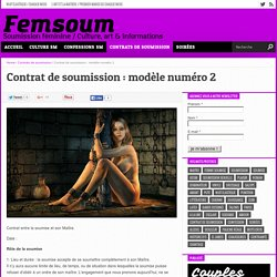 Contrat de soumission : modèle numéro 2 - Femsoum