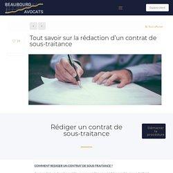 Contrat de sous-traitance : définition et modèle sur-mesure