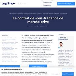 Contrat de sous-traitance de marché privé